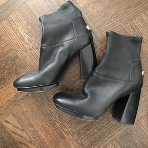 Tory Burch Leather Sock Booties